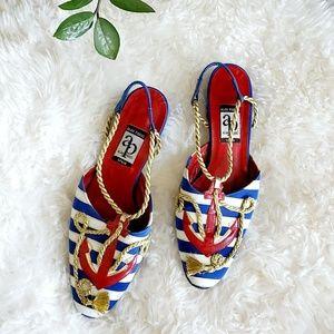 Vintage Alan Pinkus Anchor Kitten heel Shoes